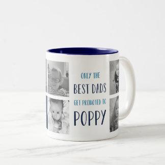 最も最高のなパパだけケシの写真に促進されて得ます ツートーンマグカップ