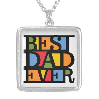 最も最高のなパパのネックレス シルバープレートネックレス