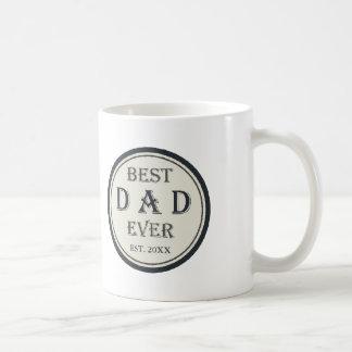 最も最高のなパパ米国東部標準時刻。 20XX名前入りなカスタム コーヒーマグカップ