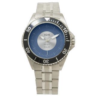 最も最高のなパパ|のモノグラムおよび編集可能色 腕時計