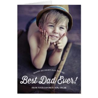 最も最高のなパパ|のレトロの書道の父の日カード グリーティングカード