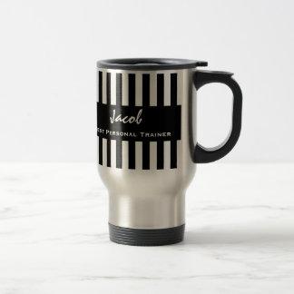 最も最高のなパーソナルトレーナーの白黒の縞模様 トラベルマグ