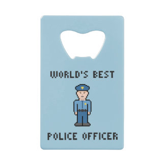 最も最高のなピクセル警官 クレジットカード栓抜き