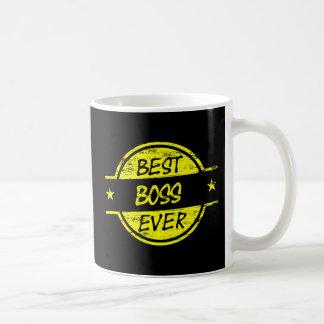 最も最高のなボスの黄色 コーヒーマグカップ