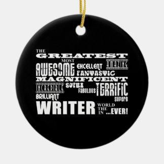 最も最高のな作家および作家: すばらしい作家 セラミックオーナメント