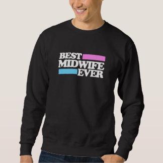 最も最高のな助産婦 スウェットシャツ