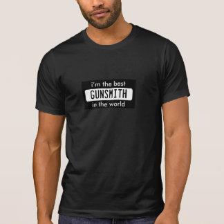 最も最高のな労働者の職業専門職の仕事の銃工 Tシャツ