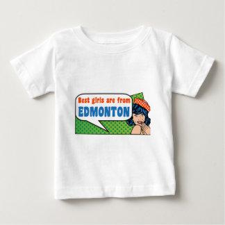 最も最高のな女の子はエドモントンからあります ベビーTシャツ