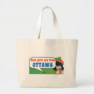 最も最高のな女の子はオタワからあります ラージトートバッグ