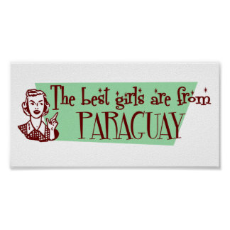 最も最高のな女の子はパラグアイからあります ポスター