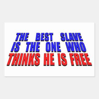 最も最高のな奴隷 長方形シール