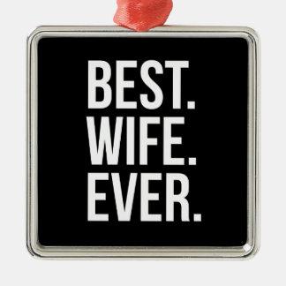 最も最高のな妻 メタルオーナメント