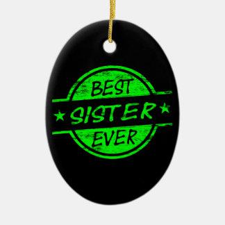 最も最高のな姉妹の緑 セラミックオーナメント