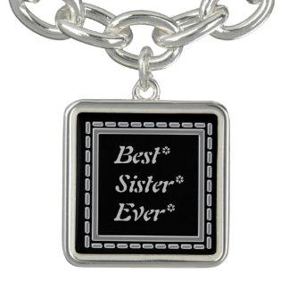 最も最高のな姉妹の銀フレーム ブレス