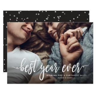 最も最高のな年の新年の休日の写真 カード