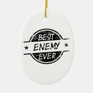 最も最高のな敵の黒 セラミックオーナメント