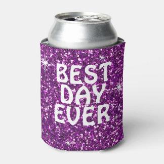 最も最高のな日|のグリッターの紫色 缶クーラー