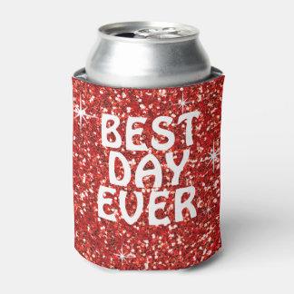 最も最高のな日|のグリッターの赤 缶クーラー