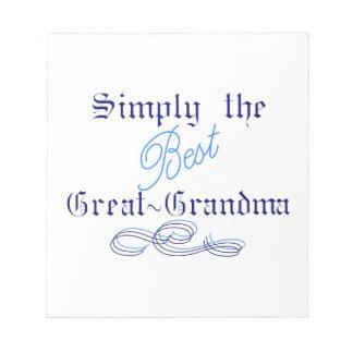 最も最高のな曾祖母 ノートパッド