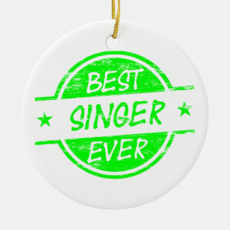 最も最高のな歌手の緑 セラミックオーナメント