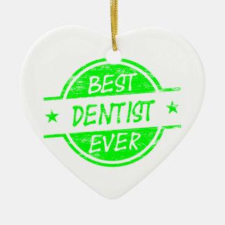 最も最高のな歯科医の緑 セラミックオーナメント