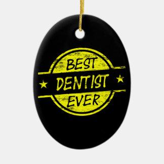 最も最高のな歯科医の黄色 セラミックオーナメント