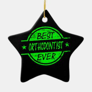 最も最高のな歯科矯正医の緑 セラミックオーナメント