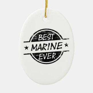 最も最高のな海兵隊員の黒 セラミックオーナメント