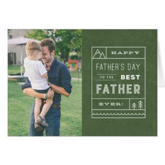 最も最高のな父の写真の挨拶状-軍隊 グリーティングカード