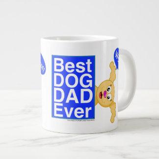 最も最高のな犬のパパのマグ-惑星のピーカブーからの… ジャンボコーヒーマグカップ