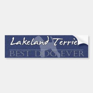 最も最高のな犬のレークランドテリアのバンパーステッカー バンパーステッカー