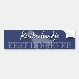 最も最高のな犬のKooikerhondjeのバンパーステッカー バンパーステッカー