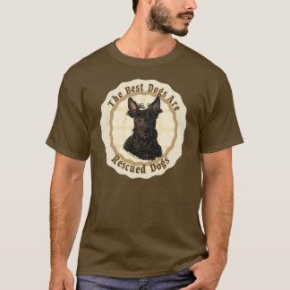 最も最高のな犬は-スコットランドテリア救助されます Tシャツ