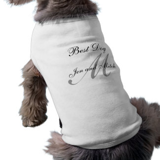 """""""最も最高のな犬""""のモノグラム犬のワイシャツの結婚 ペット服"""