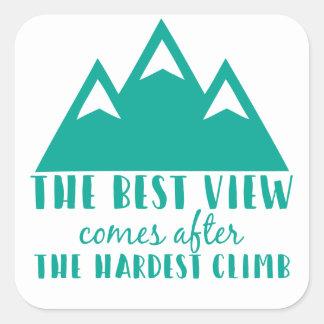 最も最高のな眺めはの後で、堅い上昇来ます スクエアシール