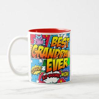 最も最高のな祖父は漫画本を個人化します ツートーンマグカップ