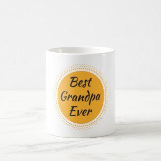 """""""最も最高のな祖父""""の引用文、日曜日の写実的なコーヒー・マグ コーヒーマグカップ"""