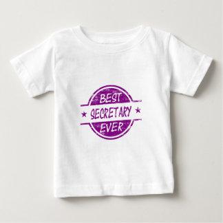最も最高のな秘書の紫色 ベビーTシャツ