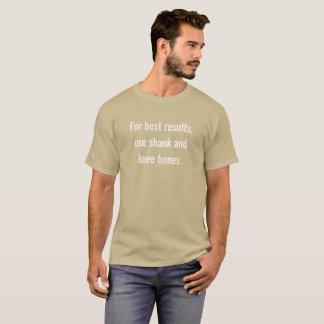 最も最高のな結果のため、使用すねおよび膝の骨 Tシャツ