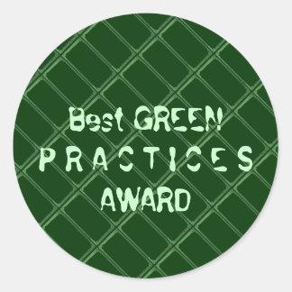 最も最高のな緑の練習賞- Txtのフォントを変えて下さい ラウンドシール