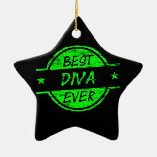 最も最高のな花型女性歌手の緑 セラミックオーナメント