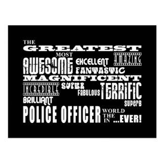 最も最高のな警官: すばらしい警官 ポストカード