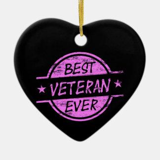 最も最高のな退役軍人のピンク セラミックオーナメント