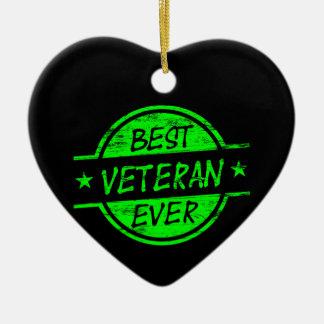 最も最高のな退役軍人の緑 セラミックオーナメント