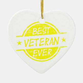 最も最高のな退役軍人の黄色 セラミックオーナメント