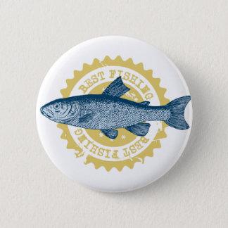 """""""最も最高のな魚釣り""""のマスの魚釣りのロゴ、 5.7CM 丸型バッジ"""
