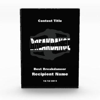 最も最高のなBreakdancer Breakdanceのコンテスト賞 表彰盾
