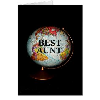 """""""最も最高のなEarth叔母さんへの幸せな母の日""""車 カード"""