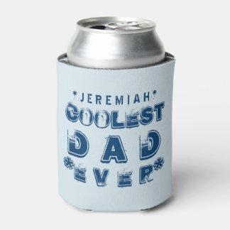 最も涼しいパパのグランジな文字B02 缶クーラー