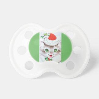 最も甘いヴィンテージのクリスマスの子ネコ おしゃぶり